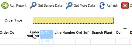 Report Parameters   ReportsNow DAS User Guide