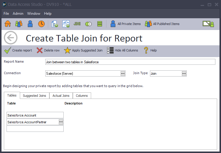 Creating a Join in a non-JDE Data Source | ReportsNow ProReports