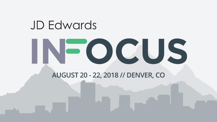 JD Edwards INFOCUS event header