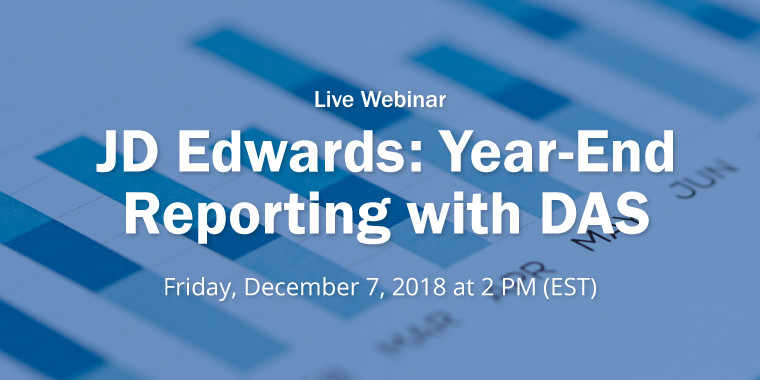 Webinar - JD Edwards: Year-End Reporting with DAS